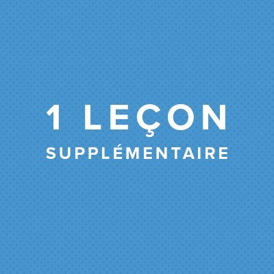 1 LECON AUTO SUPPLEMENTAIRE