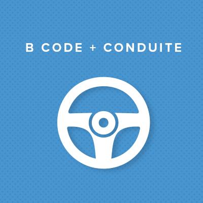 B CODE + CONDUITE