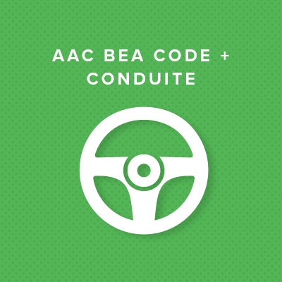 AAC BEA CODE + CONDUITE