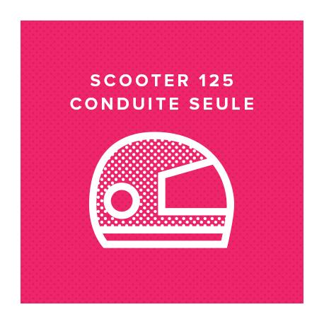 SCOOTER 125 CONDUITE SEULE